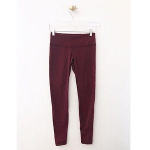 lululemon / pink fuchsia textured full leggings